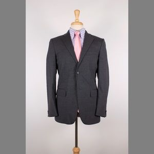 Jil Sander 36R Gray Solid Wool 2B Sport Coat 66-B